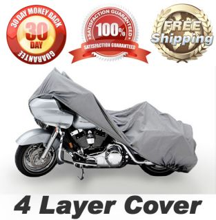 CRUISER BIKE 4 LAYER WEATHERPROOF DUST COVER GRAY STORAGE COVERS XXL