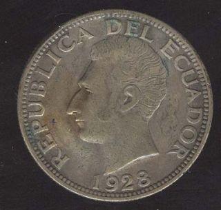 Ecuador Coin 25 Sucres High Grade Silver Philadelphia Mint Nice Toning