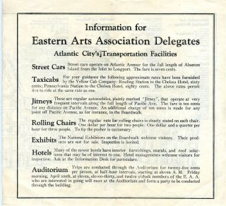 Atlantic City Map and Guide for Eastern Arts Association Convention