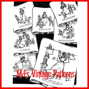 Vintage Embroidery Pattern Snow White Dow