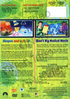 blue s big m new dvd original title blue s clues shapes and colors