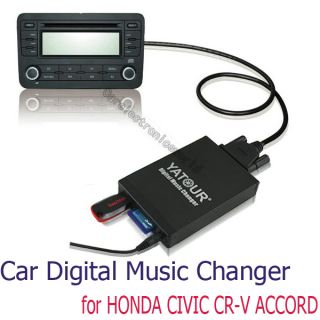 Car Digital CD Changer USB Aux SD  Adapter for Honda CRV Accord