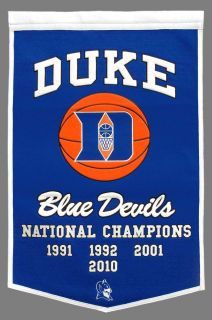 Duke Blue Devils National Champions Dynasty Banner 24x36