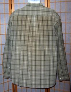 eddie bauer green plaid long sleeve shirt l description eddie bauer