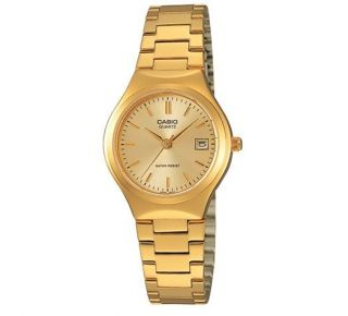 Casio LTP1170N 9A Ladies Stainless Steel Gold Tone Casual Dress Watch