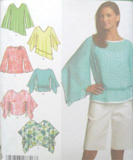 misses poncho top sewing pattern easy simplicity 4700 uncut