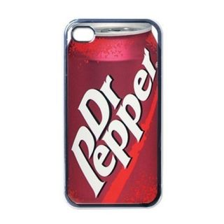 Dr Pepper Drink Cool Apple iPhone 4 4S Black or White Hard Case Cover