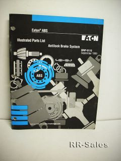 eaton abs anti lock braking system illustrated parts list manual brip