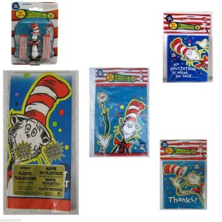 Dr Seuss Cat in The Hat Party Supplies Create Your Own Set w Free