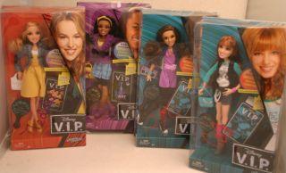 Disney VIP Rocky Cece Teddy Chyna Barbie Set 4 Dolls New
