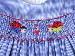 Amanda Remembered Love Bug Valentines Smocked Dress 5