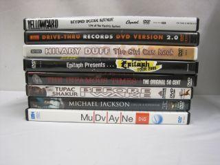 DVD Music Lot 8 Lot Collection Mudvayne Tupac Michael Jackson