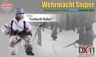 Dragon DX 11 WWII German 1 6 Scale 12 Gerhardt Hafner Wehrmacht Sniper