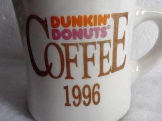 Dunkin Donuts Coffee Bean Heavy Ceramic Mug Cup 2 Sided Logo