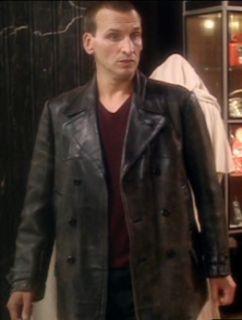 Dr Who TV Series Eccleston Black Original Leather Jacket Coat All