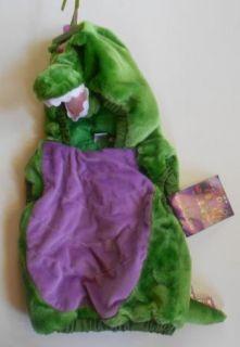 Dragon Halloween Costume Push Hooded Vest Green Purple Toddler 24M 2T