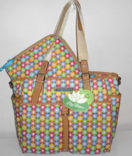 LILY BLOOM ECO FRIENDLY TRAVEL TOTE BAG W PADDED TECH CASE RECYCLED