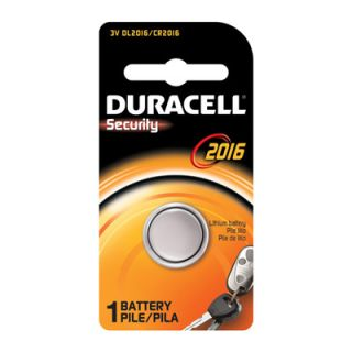 Duracell DL2016 3V Lithium Coin Cell Battery 1 Pk CR2016 ECR2016
