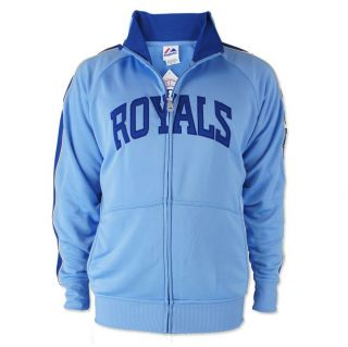 Kansas City Royals Profector Cooperstown Track Jacket Blue Majestic