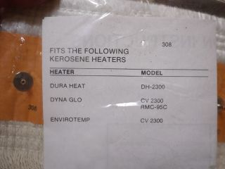 kerosene heater wick fits dh 2300 cv 2300 rmc 95c duraheat dyna glo