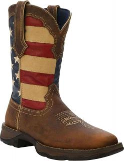 Durango RD4414 Womens Lady Rebel Patriotic Brown Union Flag Western