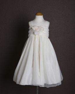 White Elegant Embroidered Day Mesh Girl Dress 2 4 6 8