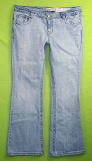 Ashley Trouble Flare Sz 17 x 32 Juniors Womens Blue Jeans Denim