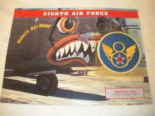 Eighth Air Force Fighter Group Squadron Patch w w WW2 Airplane Mighty