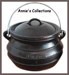 Size 3 Cast Iron Flat Bottom Dutch Oven Bean Pot 10QTS