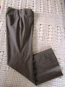 Banana Republic Jackson Fit Brown Dress Pants Trouser Leg Sz 10