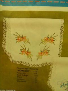 Stamped Cross Stitch Dresser Scarf Doily Scarves Doilies Romance