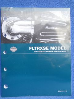 2012 HARLEY SCREAMIN EAGLE FLTRXSE PARTS CATALOG MANUAL99431 12 CVO