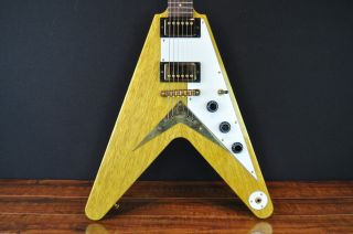 Korina Flying V Style Electric Guitar Owned by Dweezil Zappa
