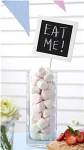 White Party Table Chalkboards Signs Number Markers Cards Place