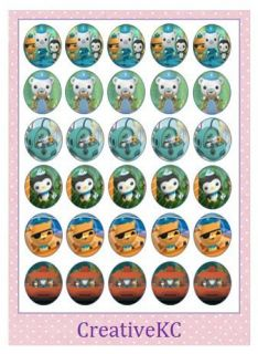 X30 Octonauts Edible Rice Paper Cake Cupcake Toppers Decorations