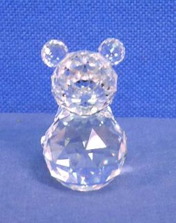 Swarovski Crystal Glass Bear Large 7637 075 000 Black Eyes 2 5 8 Tall