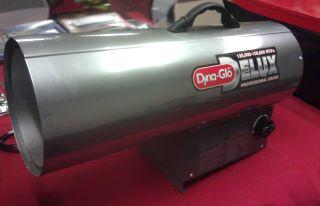dyna glo delux torpedo 150k btu portable propane forced air heater RMC