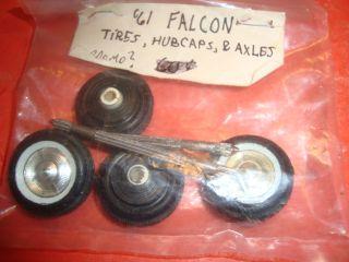 25 Scale Model Car Parts 1961 Ford Falcon Promo Wheels