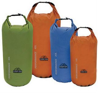 New Performance Waterproof Dry Gear Bag Sack 9 x 16 20 Liters Blue