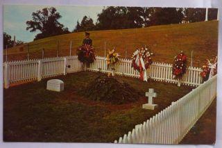Old 1960s Postcard Grave John Kennedy JFK Arlington VA