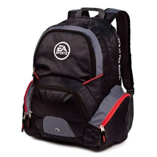 NEW EA Sports Hat Trick Laptop Backpack  Black/Silver