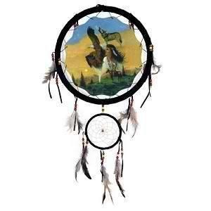 13 Indian Girl Eagle Wolf Buffalo Dream Catcher Wall Decor