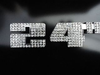 24 inch Rim Wheel Emblem Badge Ice Dub Crystal Chrome