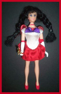 RARE Anime Manga Bandai 1995 Sailor Moon Mars Red Doll Action Figure