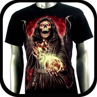 Rock Eagle T Shirt Biker Tattoo RE103 Sz XXXL 3XL Punk Skull Glow In