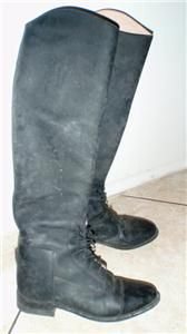 Effingham Leather English Horse Riding Boots Size 6 5