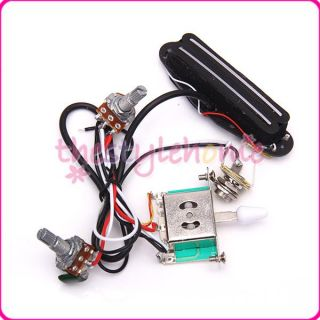 Circuit Wiring Harness Kit w Pickup 3 Way Switch for Electric Guitar