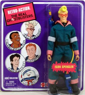 Real Ghostbusters EGON SPENGLER Retro Action figure Mattel NIP