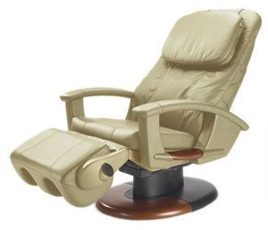Human Touch Massage Chair HT 135 Cream Power Electric Recline Recliner