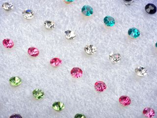Wholesale Lots 20 Pairs Clear Crystal Earring Studs 1 Box Allergy Free